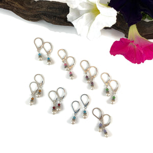 Petite Pearl & Crystal Earrings