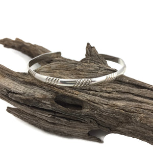 Sterling Slash Cuff Bracelet