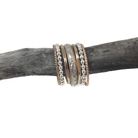 Diamond Faceted Dome Band