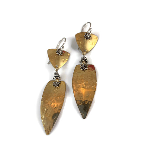 Triangle w/Arrowhead Drop Earrings