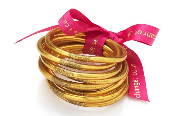 All Weather Bangles in Gold by Budha Girl