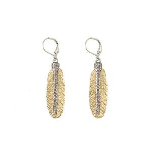 Gold Casbah Mini Feather Earrings