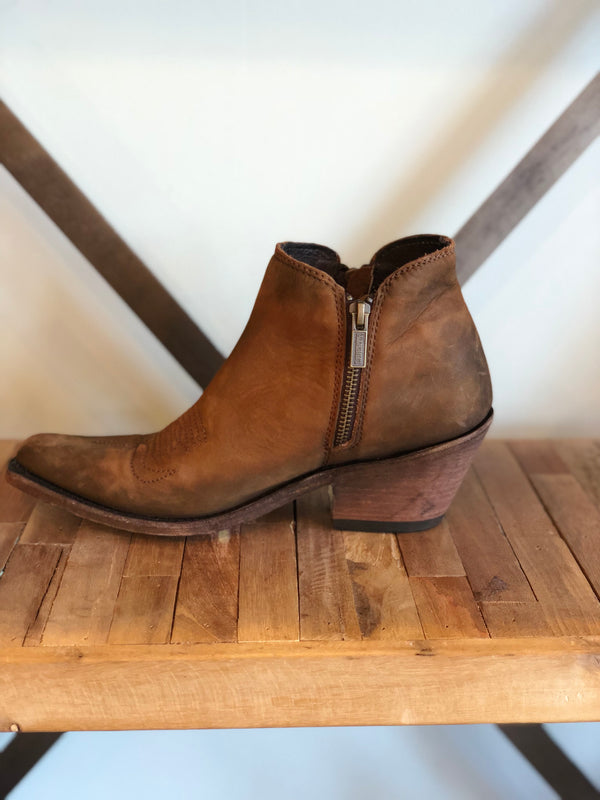 Cowboy Double Zip Bootie by Liberty Black