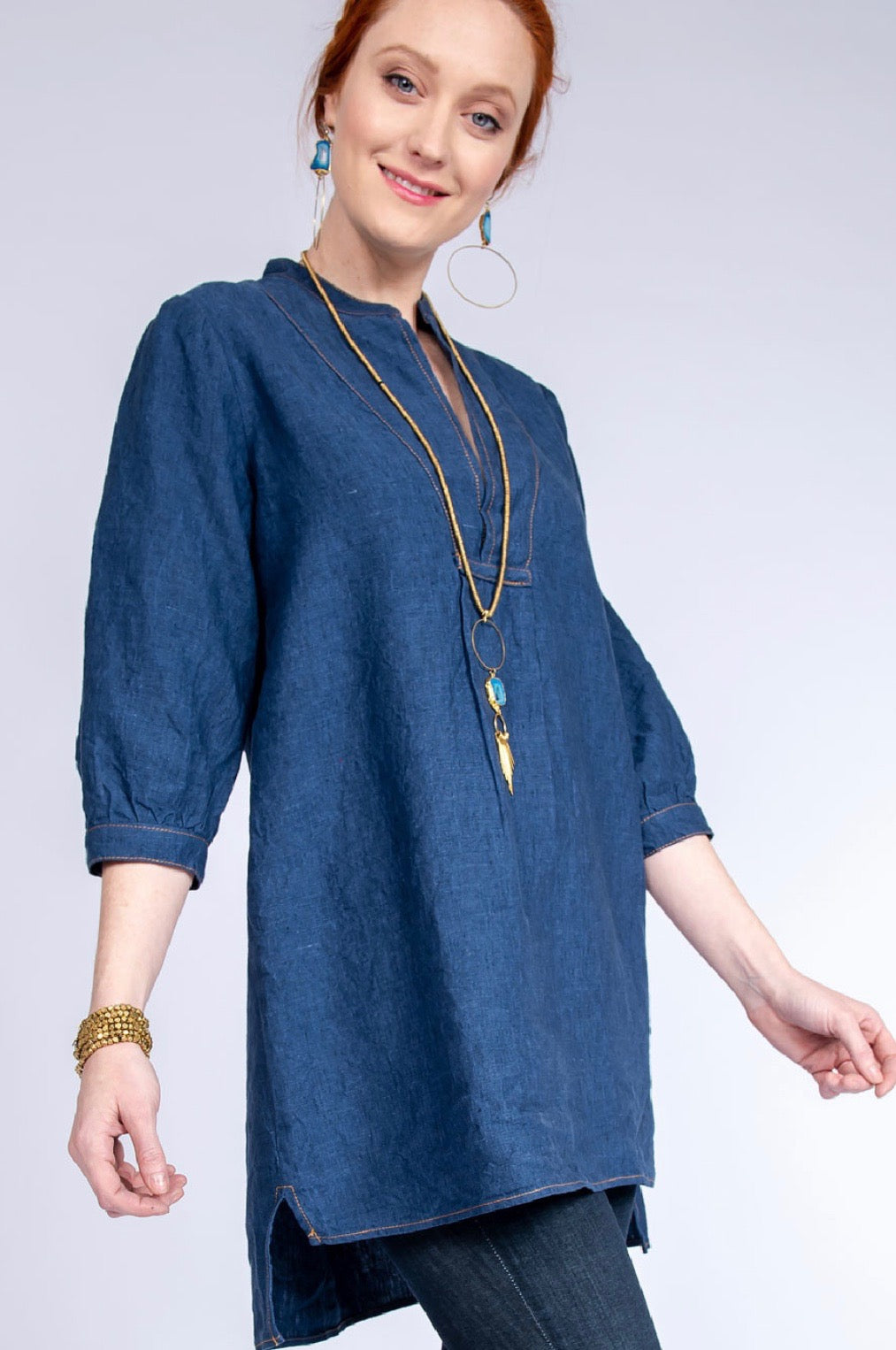 LinenDark Indigo Dress/Tunic by Ivy Jane/Uncle Frank