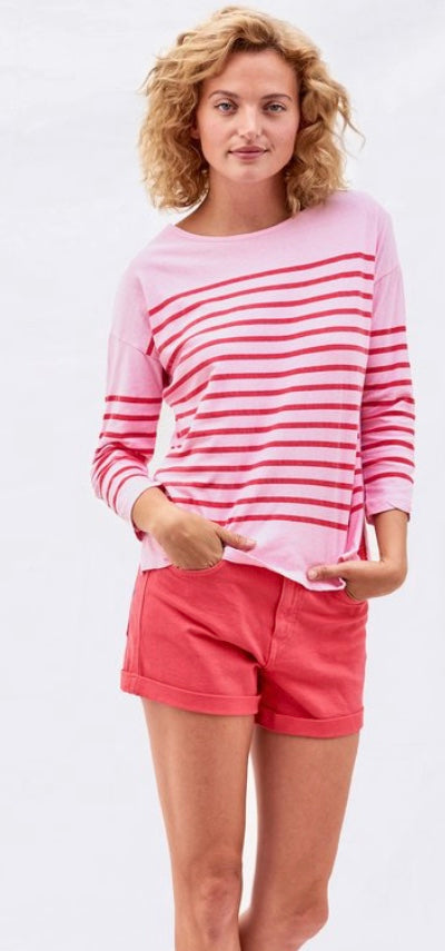 Stripes Boat Neck Tee