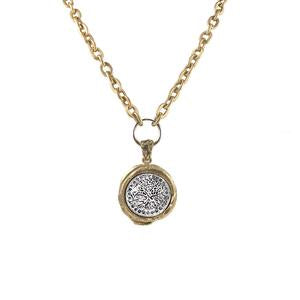 Gold Guna Wax Seal Pendant Necklace