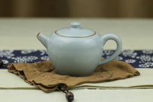 Ru Kiln Sky Blue Heart Shaped Tea Set