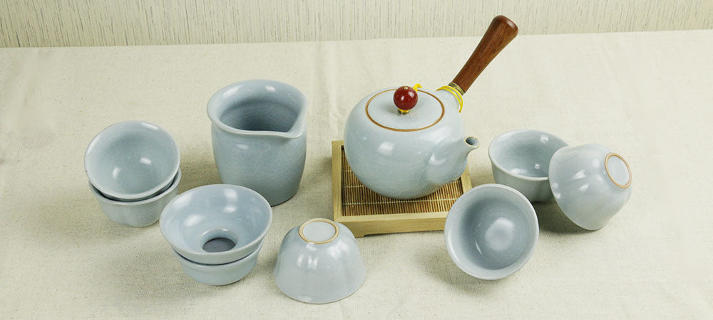 Ru Kiln Side Handle Tea Set