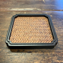 Ebony and Rattan Coaster