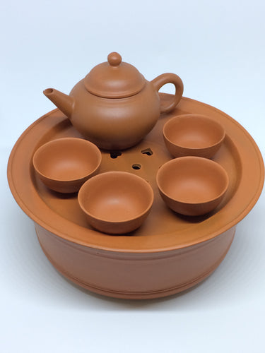 Vintage Chaozhou Red Clay Tea Set