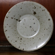 White pitted glaze saucer (coaster)
