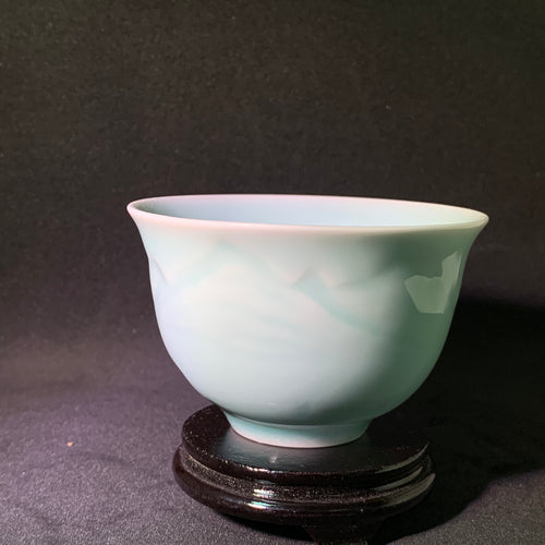 Celadon Mountainscape Teacup
