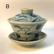 Old style blue and white gaiwan 100mL