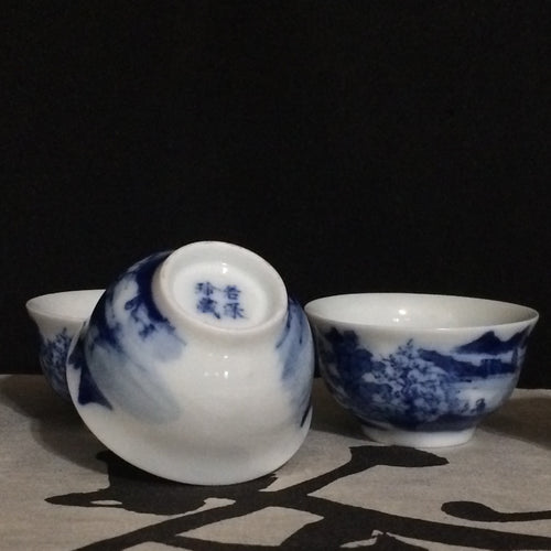 Jingdezhen Blue & White 30ml Cups