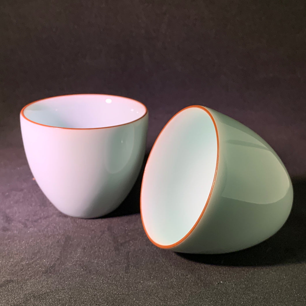 Tall Celadon Teacup