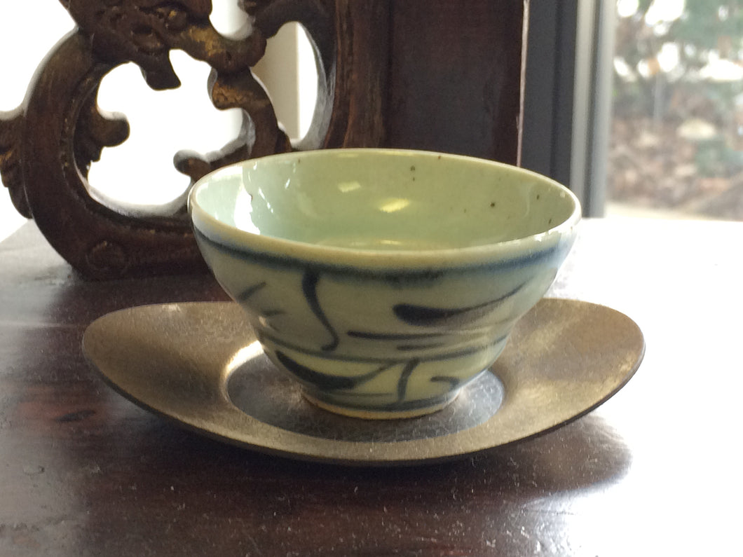 Ming-style Blue and White Ceramic Tea Cups