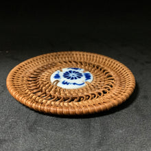 Woven Coaster with Porcelain