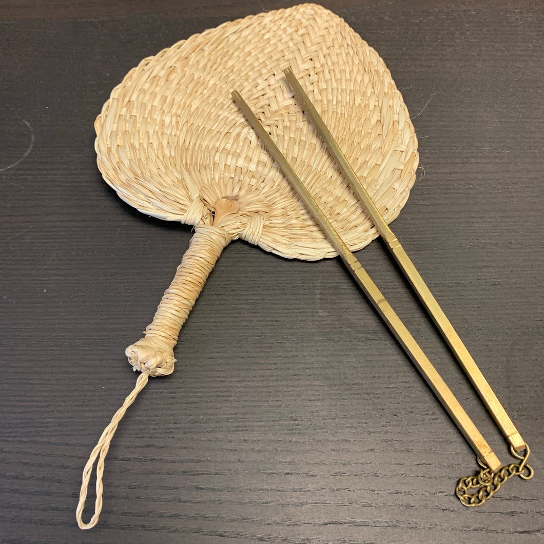 Brass Chopsticks and Cattail Fan