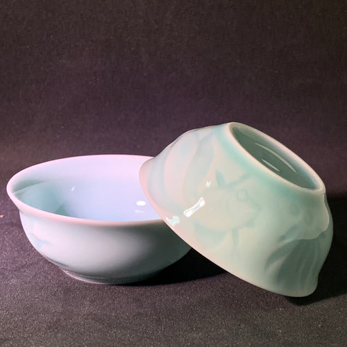 Celadon Goldfish Teacup