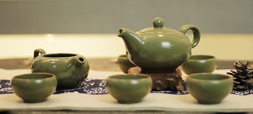 Jun Kiln Imperial Glaze Tea Set