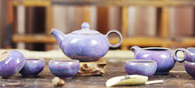 Jun Kiln Peacock Blue Flambed Tea Set