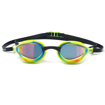 FLUIDIX Racing Goggles - Green w/Mirror lens