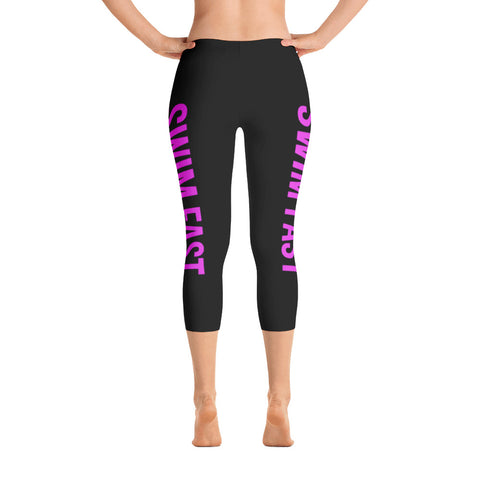 Swim Fast Capri Leggings - Black/Pink