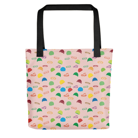 Caps and Goggles Tote Bag - Pink