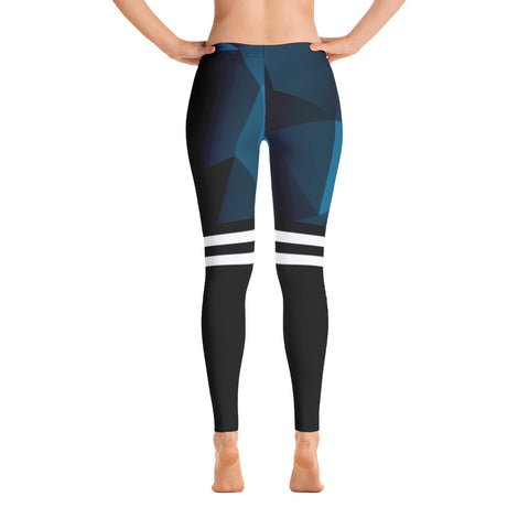 Breaststroke Stroke Series Leggings - Blue/black
