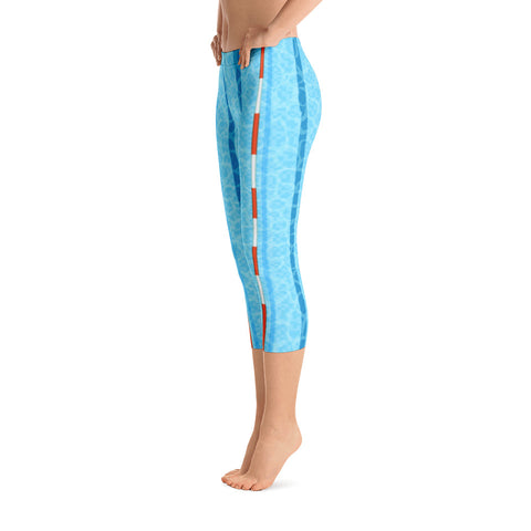 Long Course Capri Leggings - Blue