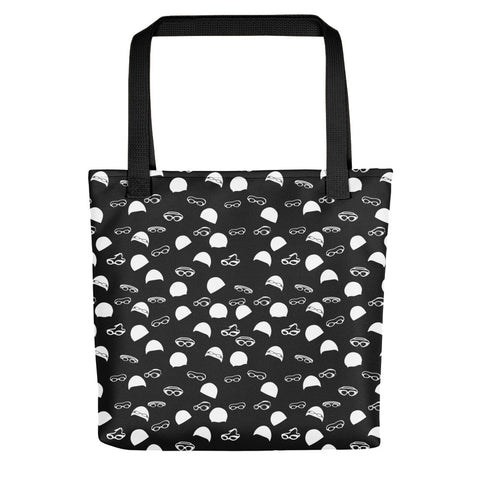 Caps and Goggles Tote Bag - Black