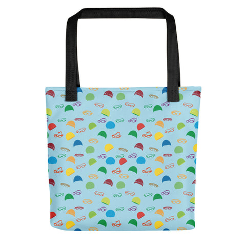 Caps and Goggles Tote Bag - Blue