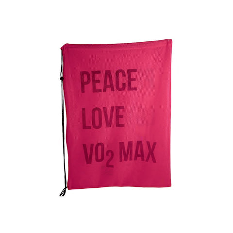 Peace Love VO2 Max Mesh Equipment Bag - Pink