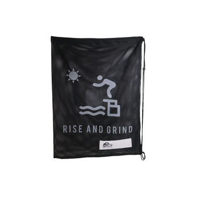 RISE AND GRIND Mesh Equipment Bag - Black