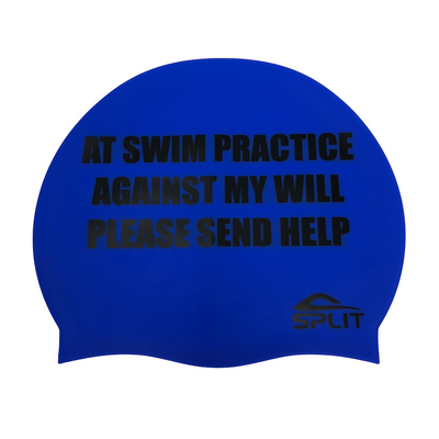Swimming Against My Will - Silicone Swim Cap