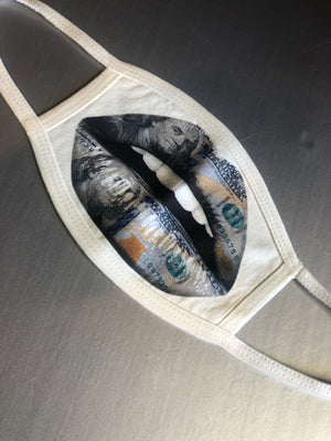 Money lips Face Mask