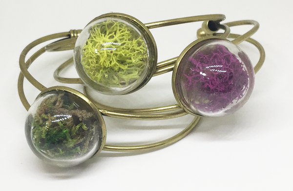 Closed Terrarium Brass Bracelet