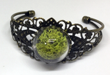 Mini Moss Garden Brass Filigree Bracelet