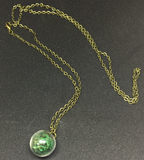Moss Globe Necklace
