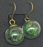 Moss Globe Dangle Earrings