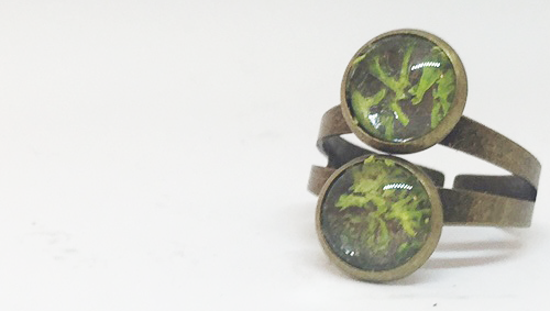 Stacked Moss Bronze Ring