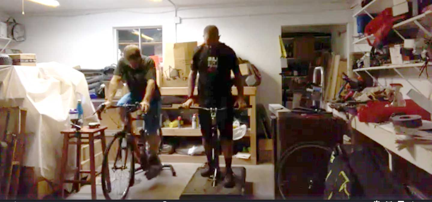 Bike trainer + RipRow™ = Awesome