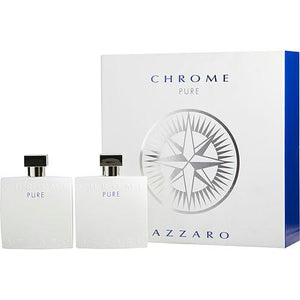 Azzaro Gift Set Chrome Pure By Azzaro