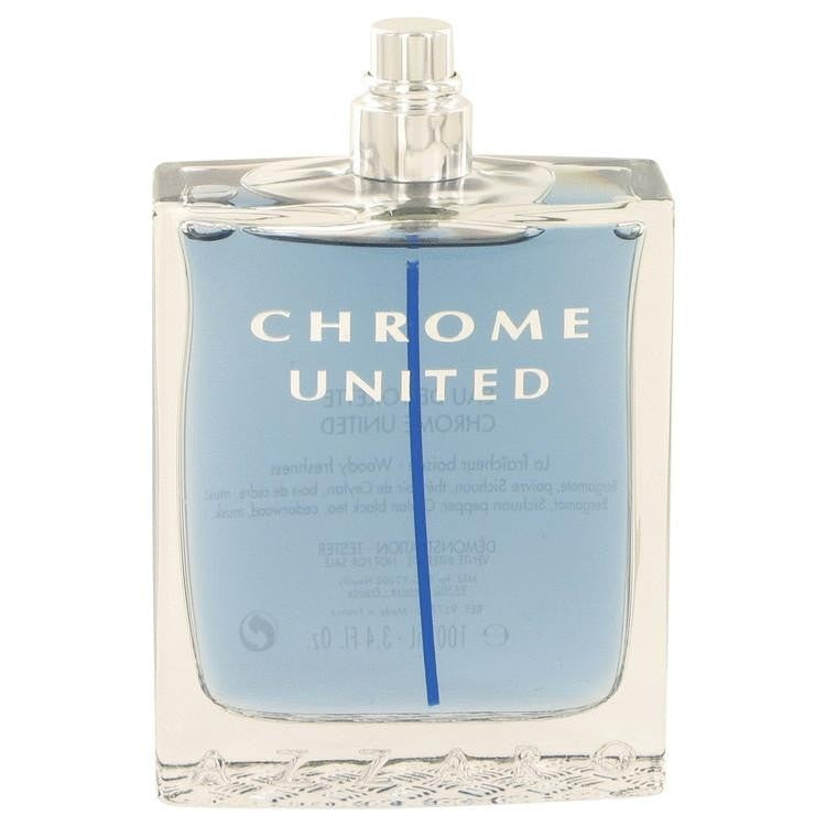 Chrome United by Azzaro Eau De Toilette Spray (Tester) 3.4 oz - Perfume N Mor