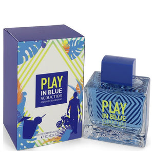 Play in Blue Seduction by Antonio Banderas Eau De Toilette Spray 3.4 oz