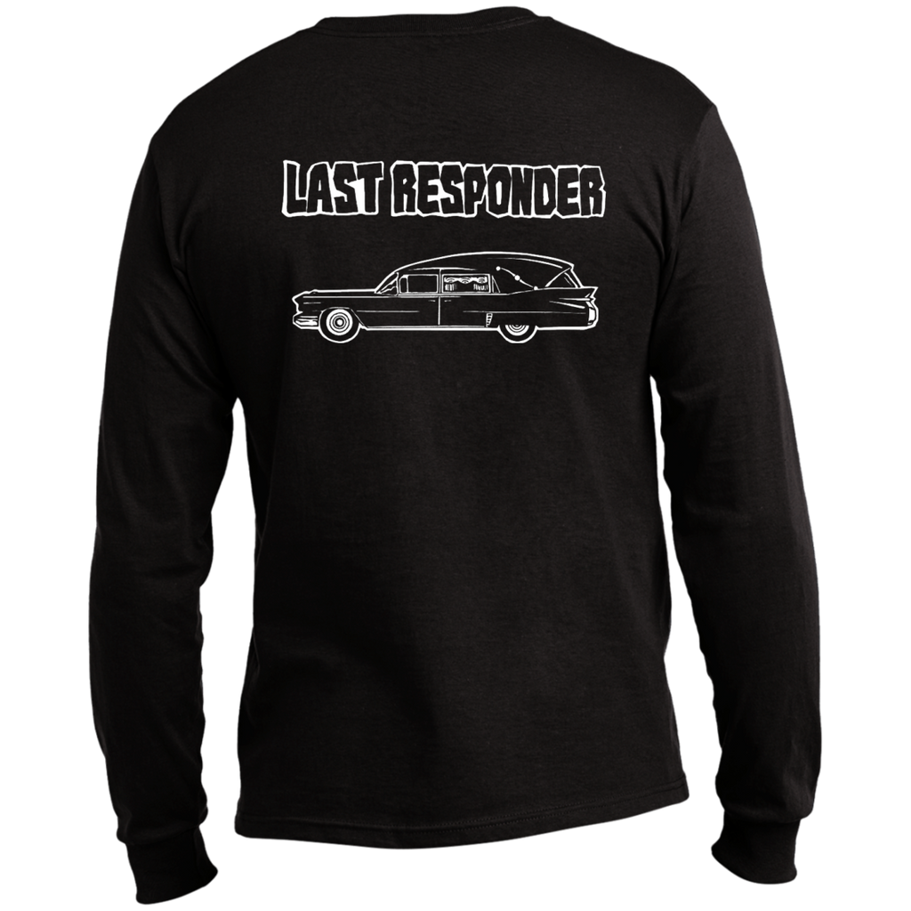 Last Responder Black Long Sleeve T Shirt Back Print