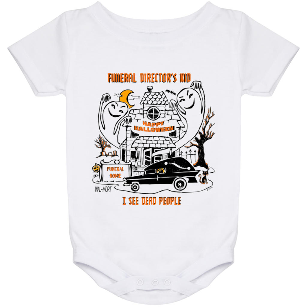 Funeral Director's Kid Halloween 24 Month Baby Onesie