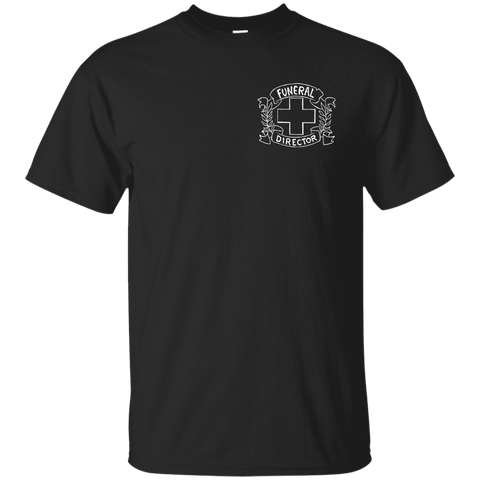 Funeral Director Black T-Shirt Chest Emblem
