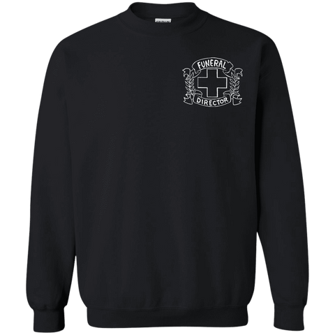 Funeral Director Black Sweatshirt Chest Emblem