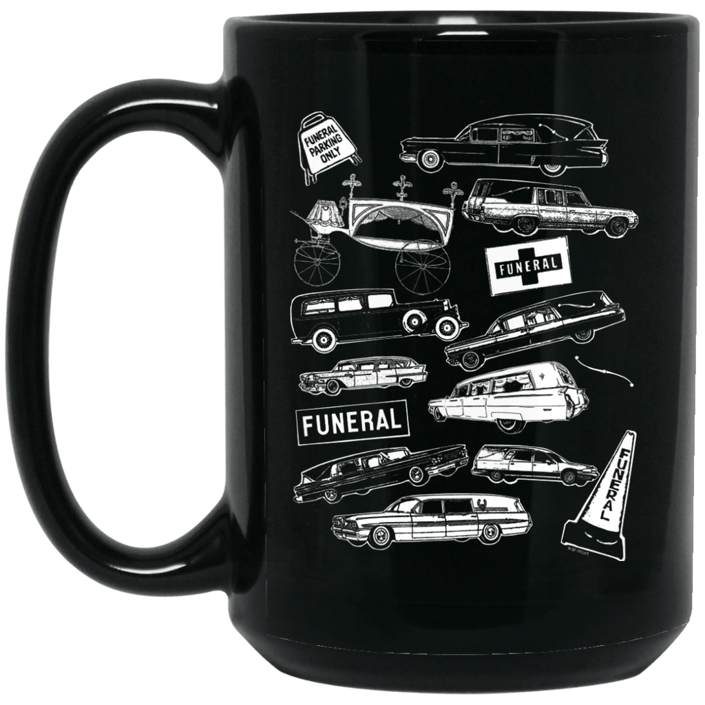 Hearses Only 15 oz. Black Mug